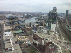 Amstelkwartier - trendy wijk in Amsterdam-Oost - Foto vanaf QO hotel 21e verdieping