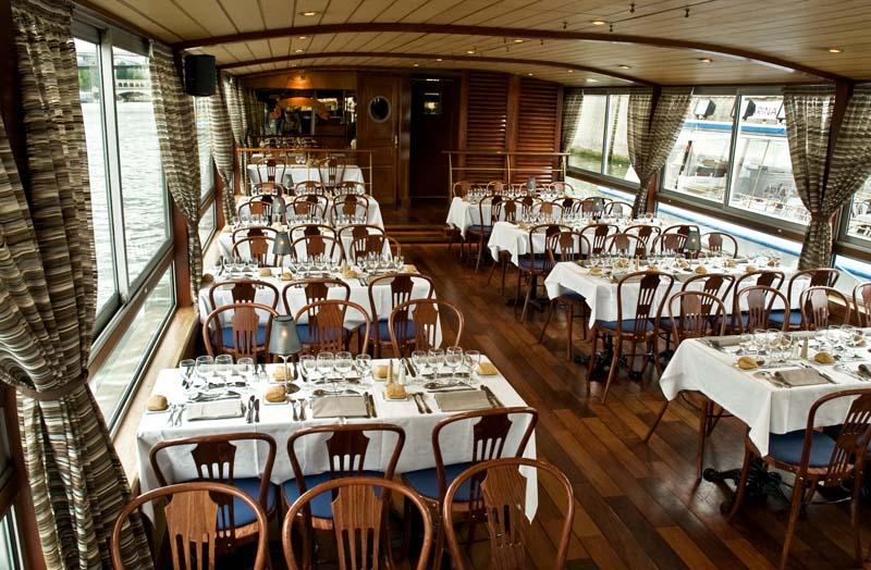 Boot voor dineren en dansen op de Seine 100 personen