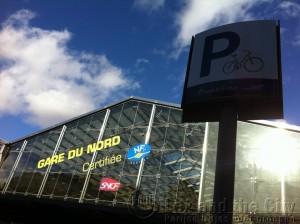 Fiets parkeren op Gare du Nord