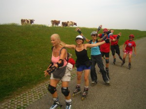 Elfstedentocht op inline skates, belicht door Lex van Buuren van Lex and the City
