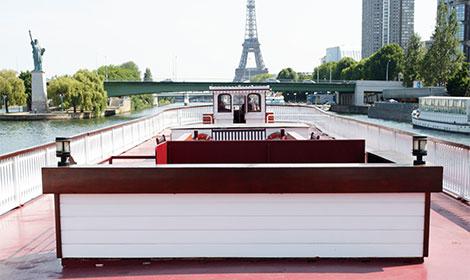Trouwfeesten in Paris op de Seine dakterras