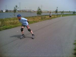 Skaten op IJburg orgasfalt