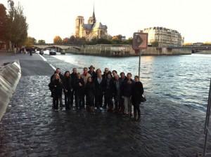 Stadswandeling Quartier-Latin met Pétanque na afloop   Visser Silfhout   november 2012
