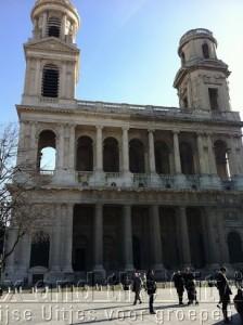 De kerk van de Da Vinci Code Saint-Sulpice in Saint-Germain des Prés
