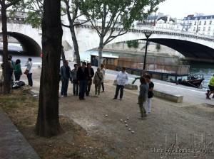 Jeu de Boules in Parijs met uw groep na een stadswandeling