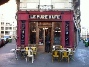 Shooting in Parijs, locatie café