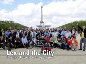 Fietsuitjes met groepen met Lex and the City in Parijs