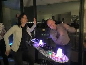DJ Lextase booth strijkplank met strijkbout 2 mei 2015 at Joepjes