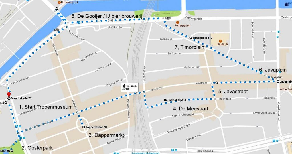 Low budget tour te voet met gids in Amsterdam-Oost met Lex and the City