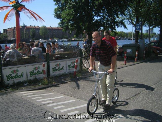 Steppen in Amsterdam-Oost - sportief bedrijfsuitje met Lex and the City tours