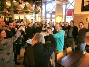 Proeverij met een groep in Amsterdam-Oost bij Poesiat en Kater nov2017