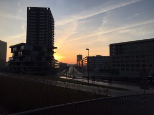 Mooie lucht over Science Park - wandeltour in ongebruikelijk Amsterdam - Special Interest rondje