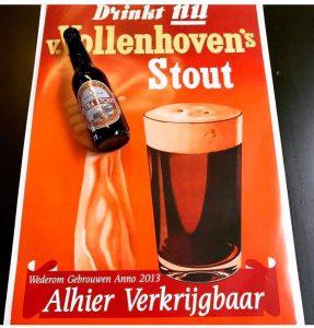 Van Vollenhoven extra stout van Poesiat en Kater - poster - bierproeverij in amsterdam oost