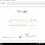 SEO writer Lex van Buuren is in het bezit van het certificaat online marketing van Google