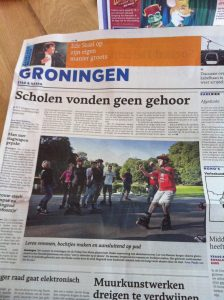 Lex van Buuren in the press as a skate teacher in Groningen - Friday Fun Skate 2011