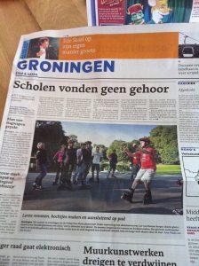 Lex van Buuren in the press as a skate teacher in Groningen - Friday Fun Skate 2011