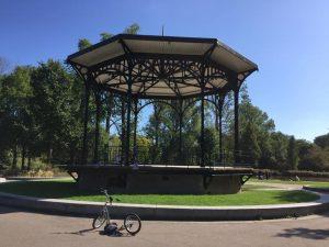 In het Oosterpark in Amsterdam-Oost begint de gegidste wandeltour met Lex van Buuren