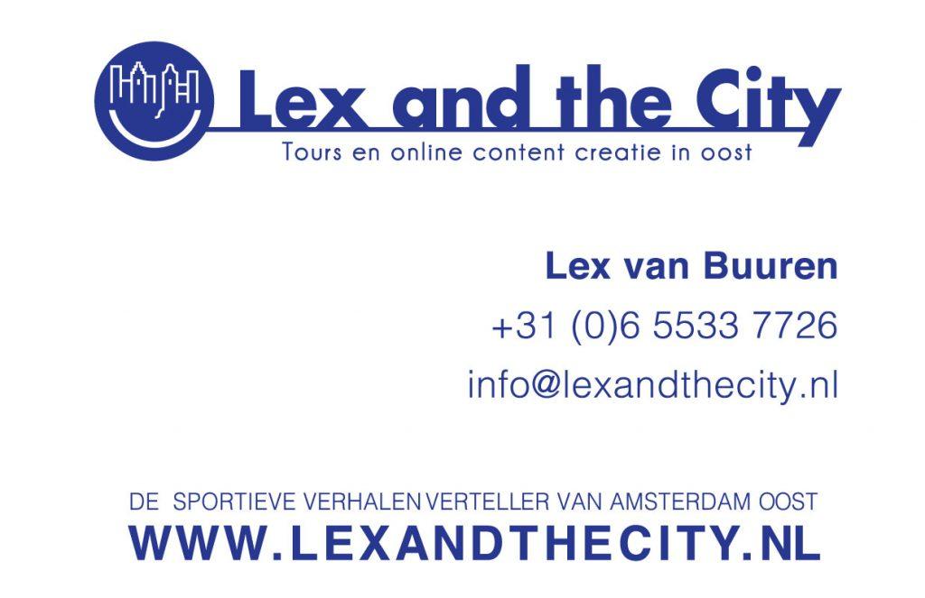 Lex van Buuren van Lex and the City - Verhalenverteller Amsterdam Oost - visitekaartje