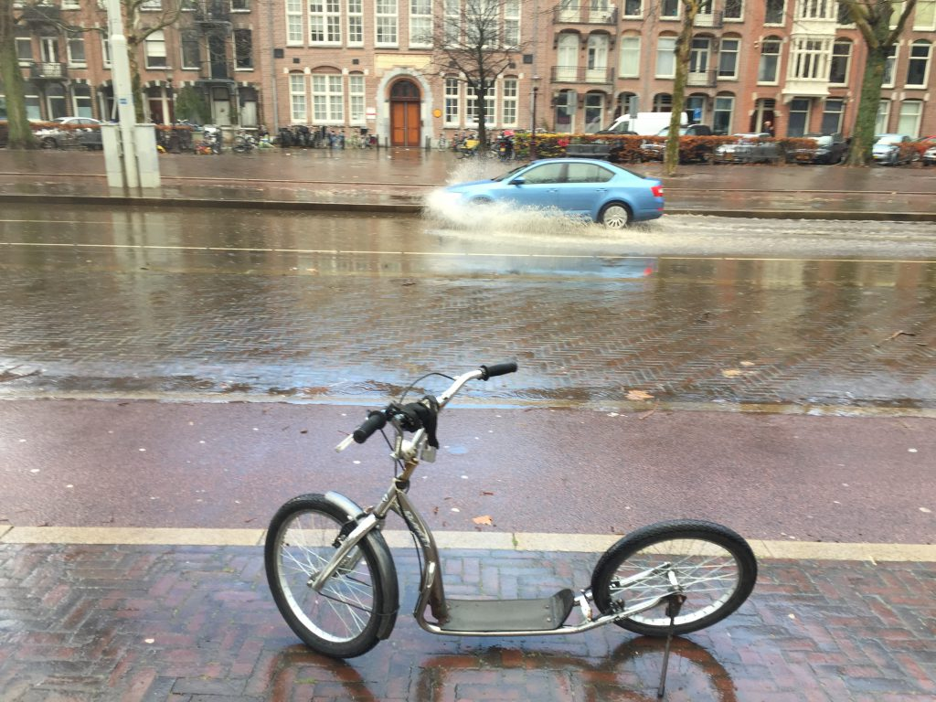 Footbike in the rain