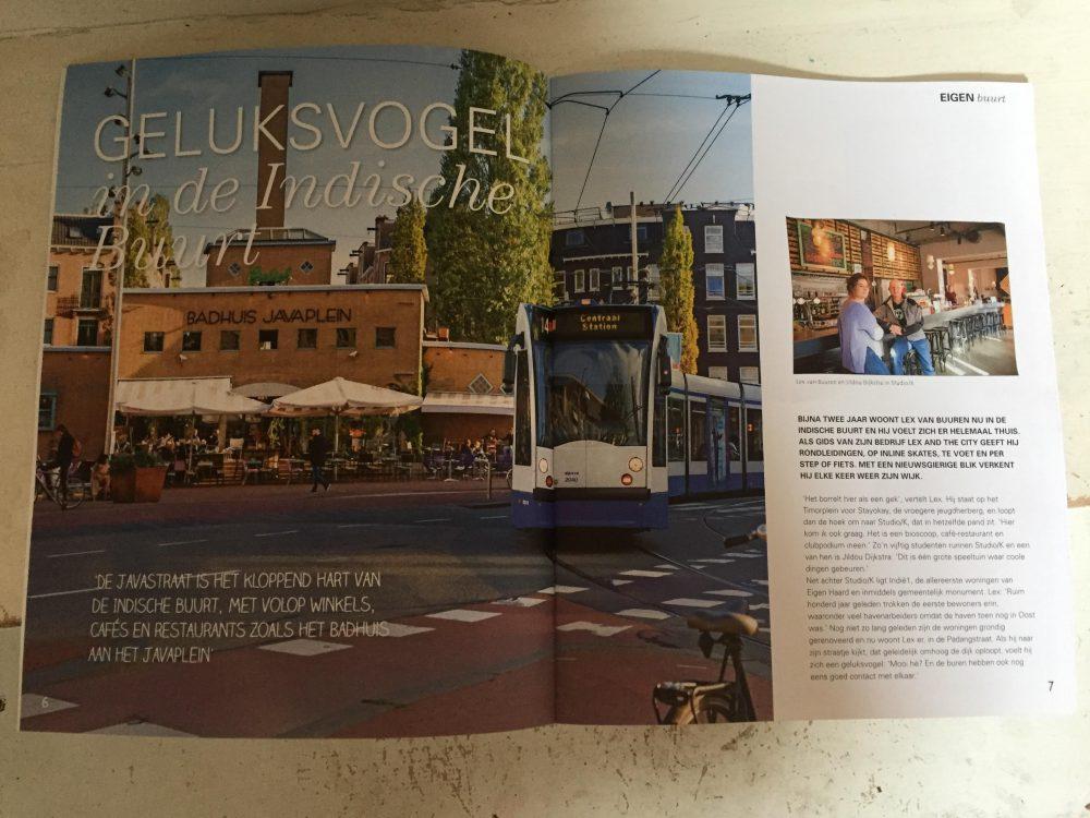 Lex van Buuren van Lex and the City in de pers: 3 pagina's in magazine van Eigen Haard.