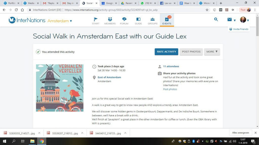 Social walk in AMS East with Lex and the City for Internations Amsterdam