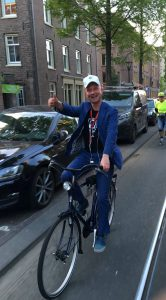 Hidden Gems Guide Lex van Buuren with private tours Amsterdam has a mission in Amsterdam. Promoting physical movement with bikes, footbikes, skates and by foot.