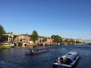 Checking out the highlights of Amsterdam with tour guide Lex and the City - On inline skates, by bike, by footbike, by boat or walking