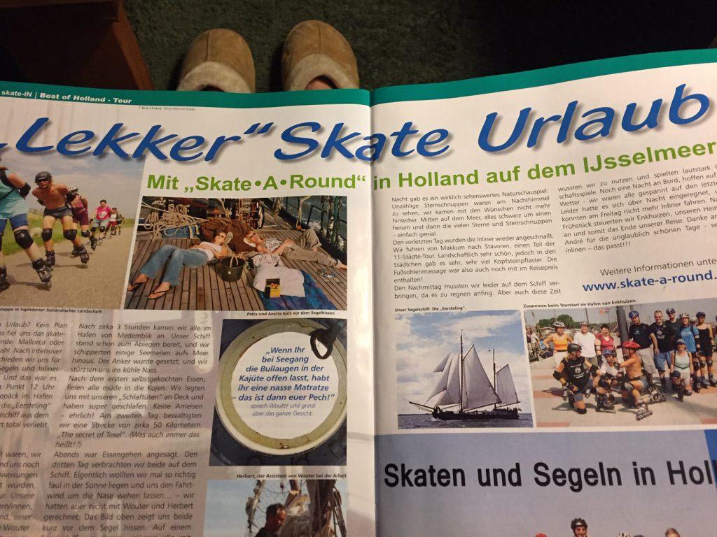Lex van Buuren mit Skate-A-Round in Skate-In Magazin mit Skaten und segeln.
