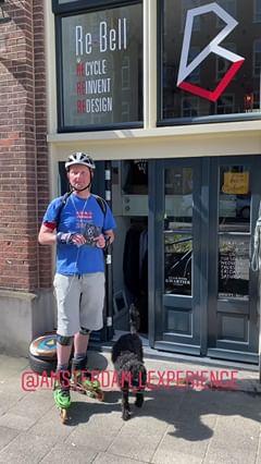 Koeriersbedrijf in Amsterdam met sportieve bezorgservice tijdens de Coronavirus crisis - foto Lex van Buuren - Lexpress een merk van Lex and the City - Voor winkels en apotheken