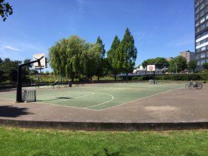 Sport -en speelplaats Mezquitalaan - Spot om te inline skaten en om skeeleren te oefenen - In Nieuw-West; bij de Sloterplas in de buurt.