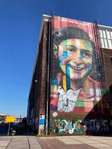 Anne Frank Street Art - NDSM Werf - Amsterdam Noord - Anders-dan-anders fietstours