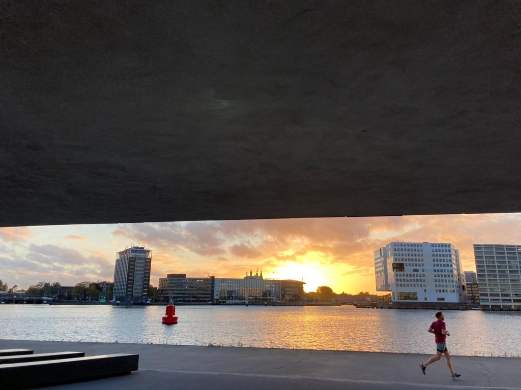 Private inline skate lessons in autumn and winter time in Amsterdam unde r the roof of EYE
