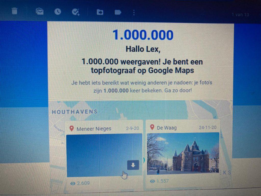 Foto's van stadsgids Lex van Buuren bereiken mijlpaal 1 miljoen kijkers bij Google Maps