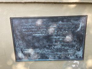 Van-Gogh-Plakette vor dem Marinegebiet bei Oosterdok. Versteckter Schatz in Amsterdam. Mit Lex and the City ungewöhnliche Privat Touren