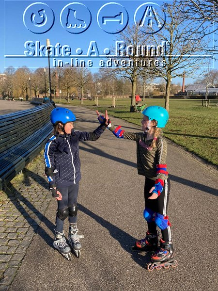 Inline skate lessons in Amsterdam in the 10 most comfortable parks, like Park Frankendael, with Skate-A-Round and Lex and the City