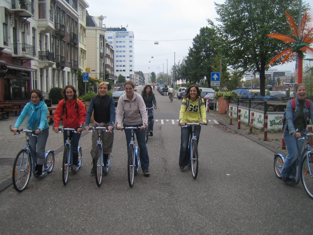Unusual active tours in Amsterdam - Scooter outings with Lex and the City- Sporty Hen party theme