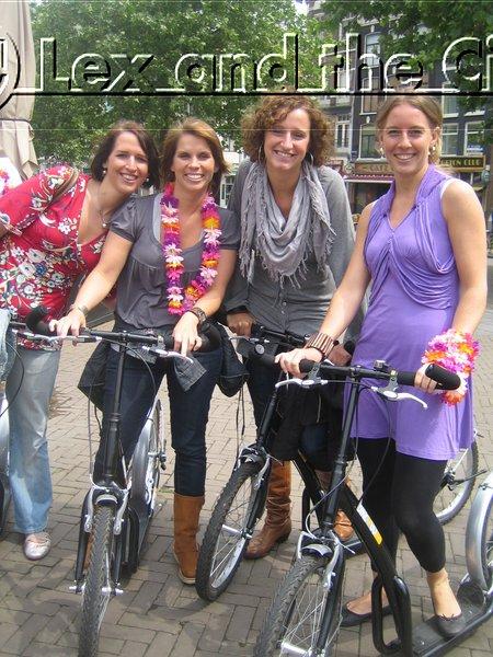 Vrijgezellenfeest in Amsterdam - Die sportieve noot van deze leuke dag - met Lex and the City - Steppen