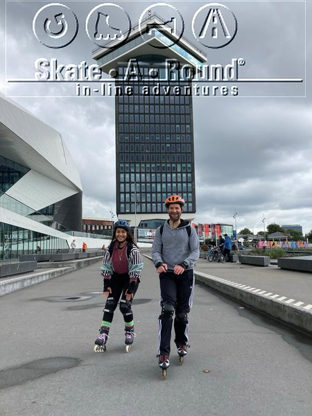 Skatelessen in Amsterdam - Tussen EYE en IJ - Ook voor internationals en expats - In het Engels, Duits of Frans - Skate-A-Round - privéles